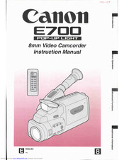 Canon E 700 Instruction Manual