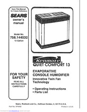 Kenmore Kenmore 758.144532 Owner's Manual
