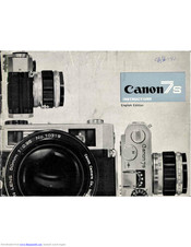 Canon 7S Instructions Manual