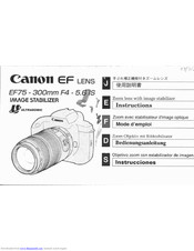 Canon 6 IS Instructions Manual