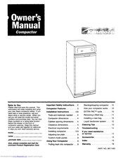 KENMORE Compactor Owner's Manual