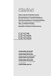 Clarion Cz101er Owner S Manual Pdf Download Manualslib