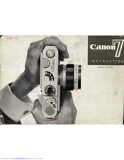 Canon Canon 7 Manual