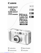 Canon Sure shot 130 u caption Instructions Manual