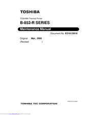 Toshiba B-852-R Series Maintenance Manual