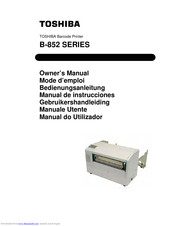 Toshiba B-852 Series Owner's Manual