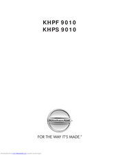 KitchenAid KHPF 9010 Manual