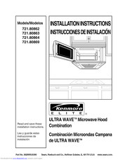 Kenmore 721 80862 Installation Instructions Manual Pdf
