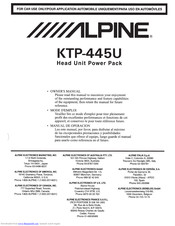 [NRIO_4796]   ALPINE KTP-445U OWNER'S MANUAL Pdf Download | ManualsLib | Alpine Ktp 445 Wiring Diagram Unit |  | ManualsLib