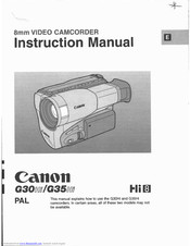 Canon G 35 Hi Instruction Manual