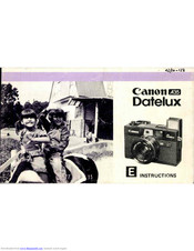 Canon A35 Datelux Instructions Manual