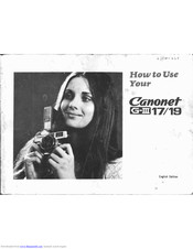 Canon Canonet G III QL19 Instructions Manual