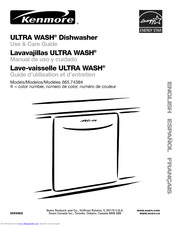 Kenmore Ultra wash 665.7438 Use & Care Manual