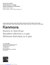 KENMORE C71182 Use & Care Manual