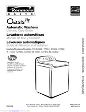 Kenmore Elite Oasis HE 110.2708 Series Use & Care Manual