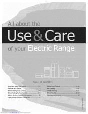 Electrolux Electric  Range Use & Care Manual