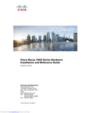 Cisco Nexus 7010 Hardware  Installation And Reference Manual