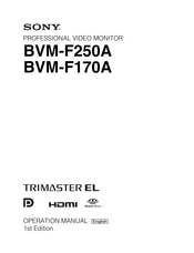 Sony BVMF170A Operation Manual