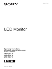Sony LMD2341W Operating Instructions Manual