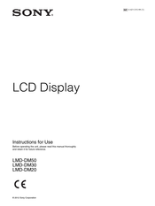 Sony LMDDM30 Instructions For Use Manual