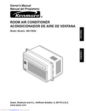 KENMORE 580.75052 Owner's Manual