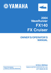 Yamaha 2004 WaveRunner FX Cruiser Owner's Manual