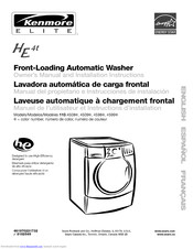 KENMORE HE4t 110.4508 Series Owner's Manual And Installation Instructions