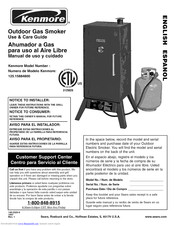 KENMORE Gas smoker 125.15884800 Use & Care Manual