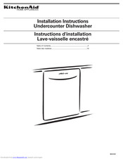 KitchenAid Undercounter Dishwasher 8573157 Installation Instructions Manual