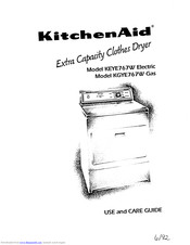 KitchenAid KEYE767W Electric Use And Care Manual