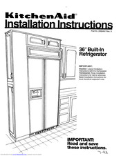 KitchenAid 2000491 Installation Instructions Manual