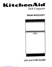 KitchenAid 4KUCS181T User And Care Manual