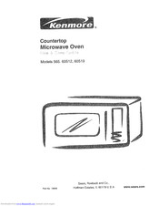 KENMORE 565.60519 Use And Care Manual