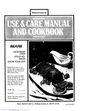 KENMORE Sears 89650 Use And Care Manual And Cookbook