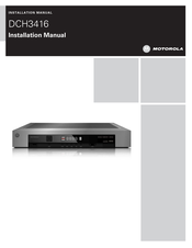 Motorola DCH3416 Installation Manual