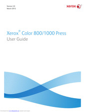 Xerox Color 800 User Manual