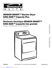 KENMORE Sensor smart electric dryer King size capacity plus Use And Care Manual