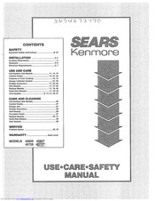 KENMORE 42827 Use And Care And Safety Manual