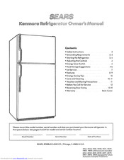 KENMORE 60148 Owner's Manual