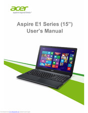 Acer Aspire E 15 Series4 User Manual