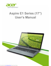 Acer Aspire E17 User Manual