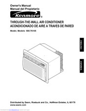 KENMORE 580.76105 Owner's Manual
