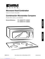 Kenmore Microwave Hood Combination 721