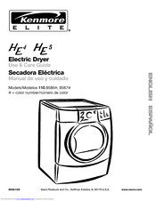 KENMORE Elite HE4 Use And Care Manual