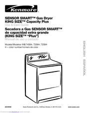 KENMORE Sensor Smart King Size 110.7206 Series Use And Care Manual
