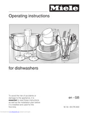 Miele 09 276 830 Operating Instructions Manual