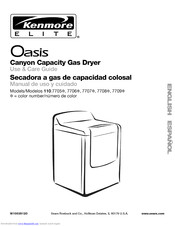 Kenmore Oasis 110.7708 Use And Care Manual