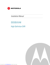 Motorola DCX3510-M Installation Manual