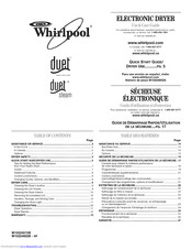 Whirlpool WED9400SW2 Use And Care Manual