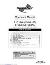 Tecumseh Hm100 Operator S Manual Pdf Download Manualslib